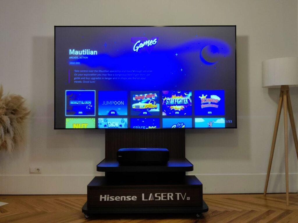 Hisense Laser TV 100L5F-A12 juegos 2
